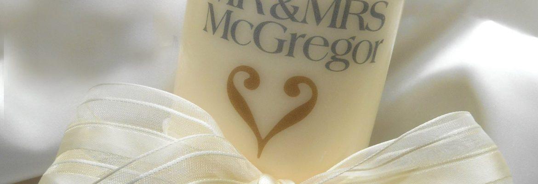 Highland Wedding Candles